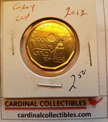 2012 Canadian GREY CUP $1 Loonie in BU (BRILLIANT CIRCULATED) Condition
