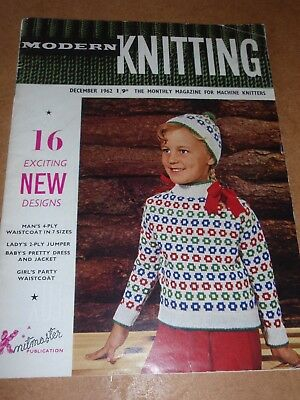Vintage Modern Knitting Pattern Magazine Sept 1959 Machine
