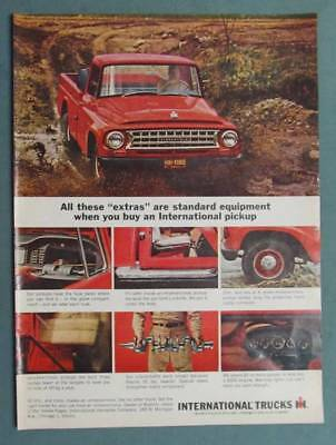 10x14 1964 International Pickup Ad THESE EXTRAS ARE STANDARD ON AN IH PICKUP