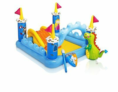 Intex Fantasy Castle Play Center Inflatable Kiddie Spray Wading Pool