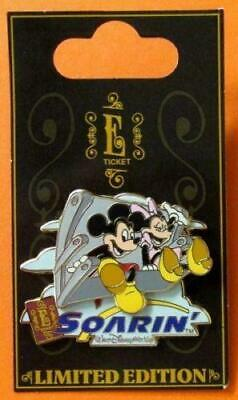 Disney Pin WDW - E-Ticket Attractions - Mickey & Minnie Mouse - Soarin'  3D LE