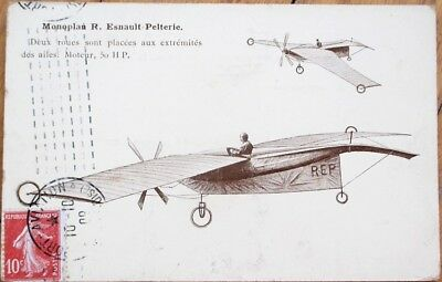 Airplane/Monoplan Esnault-Pelterie 1909 French Aviation Postcard, Pioneer-Era