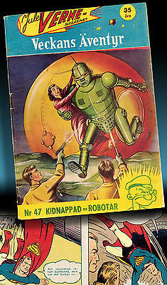 Superman | 1941 In Jules Verne Magazin Science Pulp Fiction Action Comics Thrill