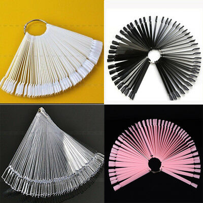 Nail False Display Nail Art Fan Wheel Polish Practice Pop Tip Sticks 50Pcs