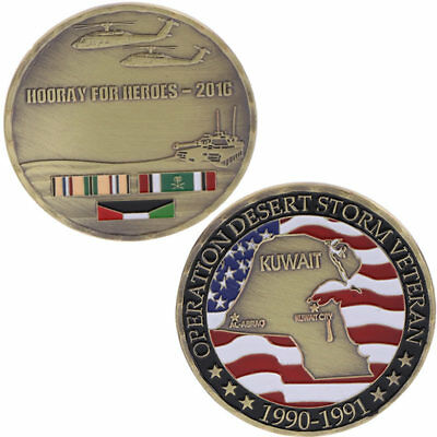 Kuwait Map Souvenir Commemorative Coin Challenge Arts Gifts Collection Alloy