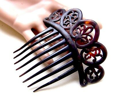 Vintage Victorian hair comb faux tortoiseshell Spanish style hair accessory