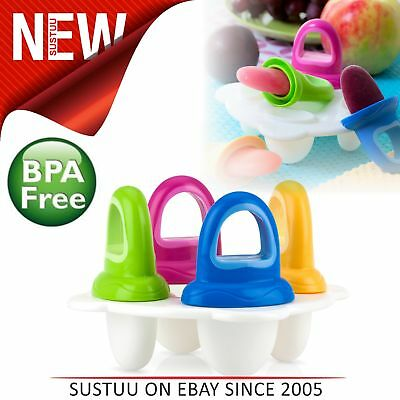 Nuby Garden Fresh Popsicles│Frozen Purees Moulds│Ice Lolly│Baby Teether│New
