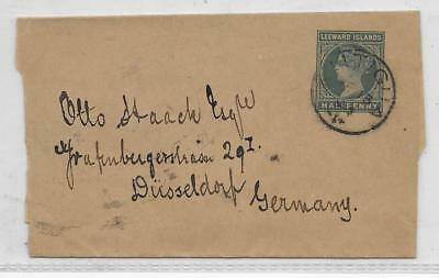 LEEWARDS  1/2d WRAPPER USED  TO GERMANY