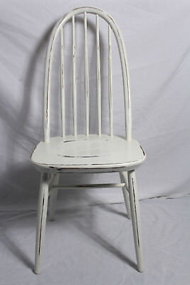 4X COUNTRY Chair/Sprossenstuhl/Stuhl Holz weiß Vintage Shabby-Chic ...