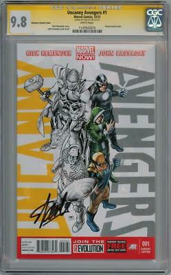 Uncanny Avengers #1 Variant Cgc 9.8 Signature Series Signed Stan Lee Marvel