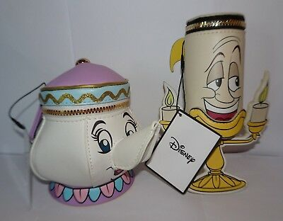 Disney Beauty and the Beast Soft Toy Purse : Mrs Potts Teapot & Lumiere Candle