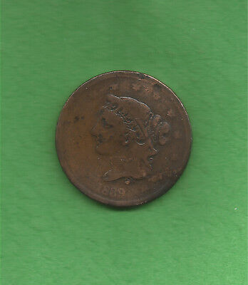 1839 Matron Head Modified, Booby Head, Large Cent - 179 Years Old!!