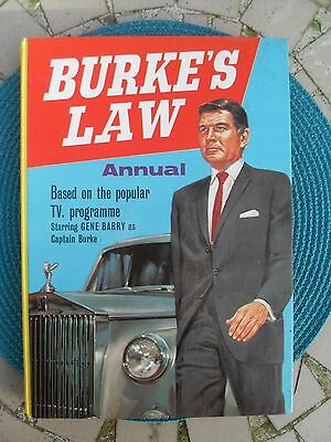 Burke's Law Annual 1965 Gene Barry As Captain Burke Based On Tv Series