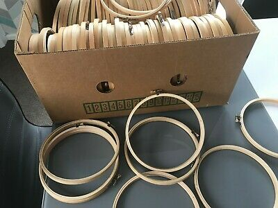job lot 90 x 17 cm  embroidery/cross stitch  hoops with damage sold as seconds