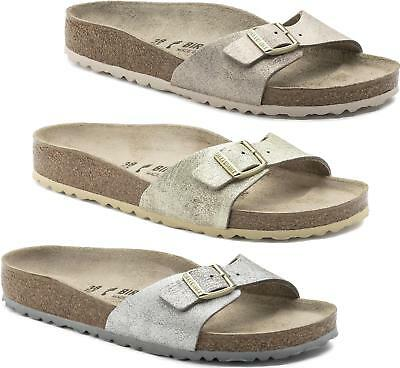 fc694bdf5f1 Birkenstock MADRID Ladies Womens Leather Summer Beach Mule Slide Sandals  REGULAR