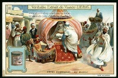 Morocco North African Wedding Noce Marriage Ceremony c1910 Trade Ad Card