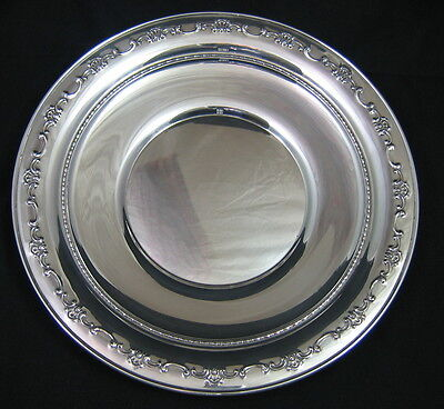 """GORHAM STERLING SILVER CHARGER PLATE 10"""" - #1123- 256 grams"""