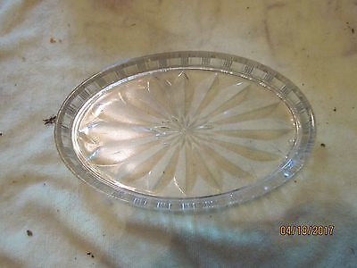 c.1950 Pressed Glass {clear} Dresser Tray or Card Receiver, chip free