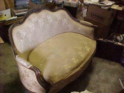 Antique Victorian Loveseat /sofa  As Pictured  Pick-Up Only