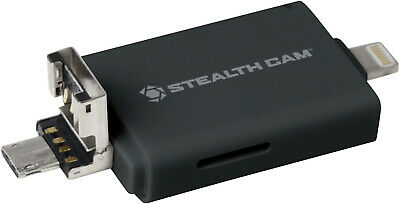 Stealth Cam Triple Connection Memory Card Reader (Andrioid/iOS/USB Adapters)