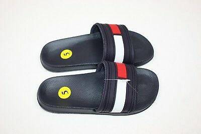 b91b61ffceac Tommy Hilfiger Slides - Navy Blue Red - Big Box Logo Flag Flip Flops - Mens
