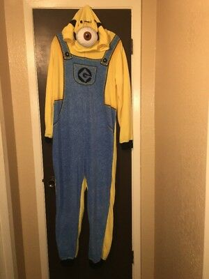 NEW Adult Despicable Me Minions Hooded Pajamas Size 2X