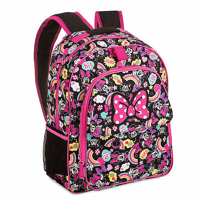 Disney Store Minnie Mouse and Figaro Backpack with Hood & Pink Bow