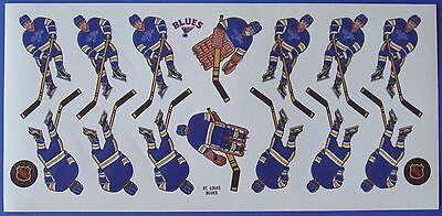 Coleco Original 1980's NHL St. Louis Blues Hockey Game Decal Team Sheet