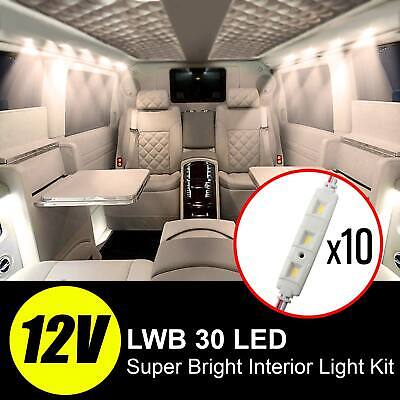 30 LED Interior Light Van Car Loading Kit for LWB 12v VW Transit Sprinter Ducato
