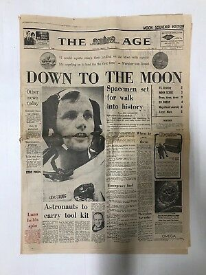 Moon Landing Souvenir Edition The Age, Whole Newspaper July 21St 1969