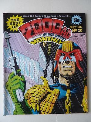 The Best Of 2000AD Featuring Judge Dredd Monthly No 20 1987 VGC