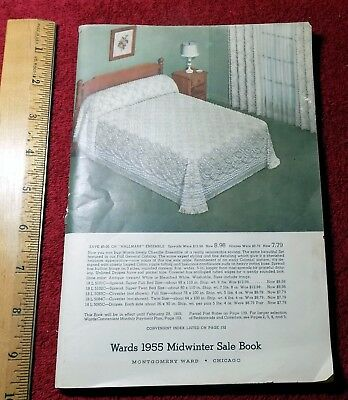 Vntg 1955 MONTGOMERY WARD MAIL ORDER CATALOG clothing bedding small appliances