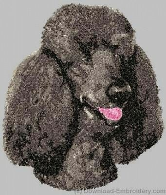 Embroidered Fleece Jacket - Poodle DLE3835 Sizes S - XXL