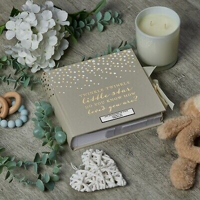 Personalised Little Star Baby Photo Album 80 Pictures Stars CG520-P
