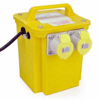 Toolstop 3KVA Twin Outlet 110V Transformer