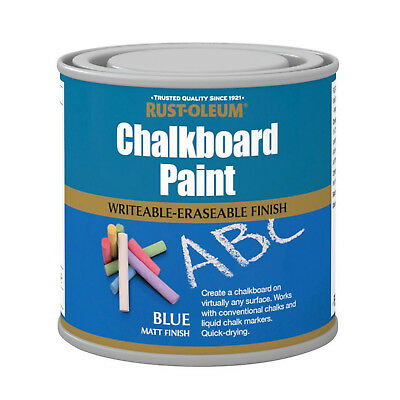 Rust-Oleum Chalkboard Paint Blue Matt 750ml Durable Quick-Drying Formulation