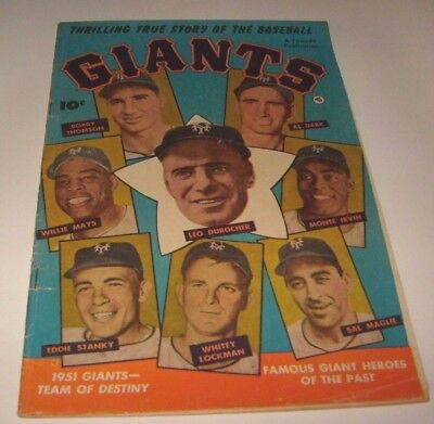 1952 Baseball Giants Comic Book, Willie Mays Durocher Irvin Stanky (1952) # 1 GD