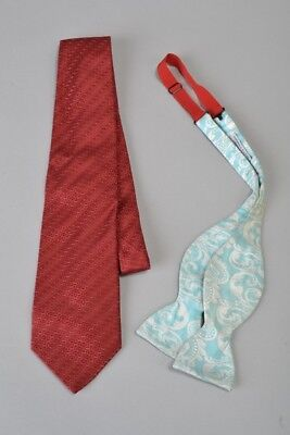 Jim Thompson Silk Tie and Turnbull & Asser Silk Bow Tie. Ref FSN