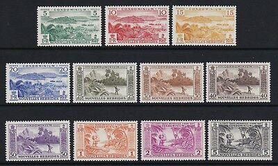 New Hebrides Fr. 1957 set of 11 - fresh very lightly mounted mint £60