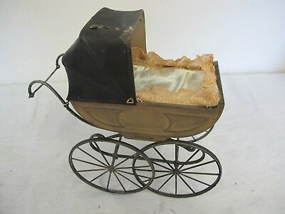 Vintage Antique Small Baby Buggy Carriage Spoke Wheels