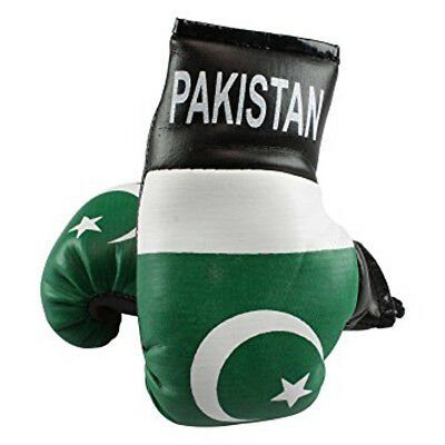PAKISTAN Flag Mini Hanging Boxing Boxer Gloves Ideal for the Car BRAND NEW PAIR