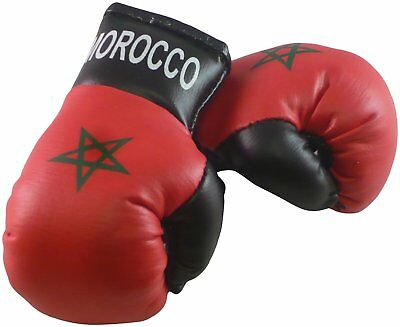 MOROCCO Flag Mini Hanging Boxing Boxer Gloves Ideal for the Car NEW PAIR