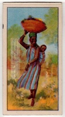 Native African Women And Child With Basket Of Fruit 80+  Y/O Ad Trade Card