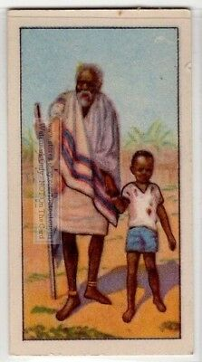 Blind Old Native African Man With Child  80+  Y/O Ad Trade Card