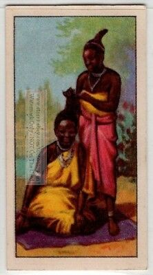 Native African Zulu Women Hairdressing 80+  Y/O Ad Trade Card