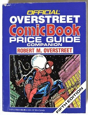 ESZ3616. OVERSTREET Comic Book Price Guide Companion 5th Edition SIGNED COPY 199