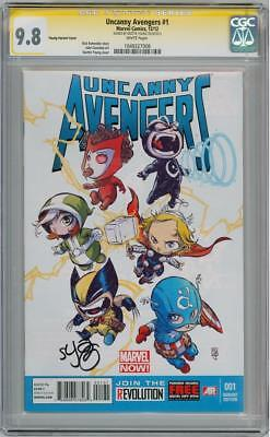 Uncanny Avengers #1 Variant Cgc 9.8 Signature Series Signed Skottie Young Marvel