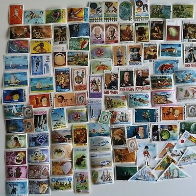 600 Different Grenada Stamp Collection