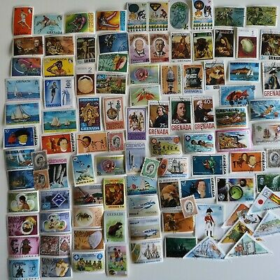 300 Different Grenada Stamp Collection