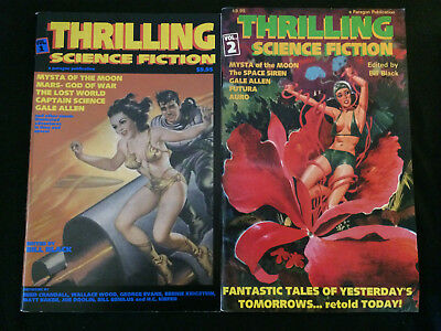 THRILLING SCIENCE FICTION #1, 2 Golden Age Reprints VF Condition